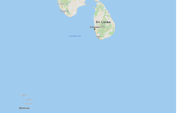 Sri Lanka kaart Malediven